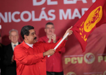 Venezuela's President Nicolas Maduro attends a meeting with the Venezuelan Communist Party (PCV) in Caracas, Venezuela February 26, 2018. Miraflores Palace/Handout via REUTERS ATTENTION EDITORS - THIS PICTURE WAS PROVIDED BY A THIRD PARTY